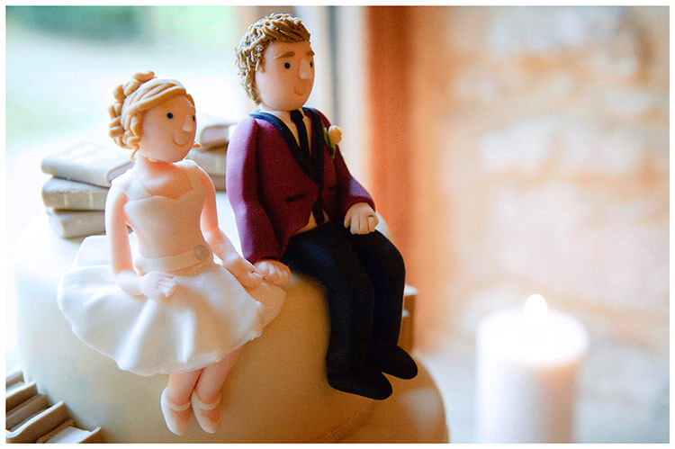 Tythe Barn Bicester Wedding cake figurines