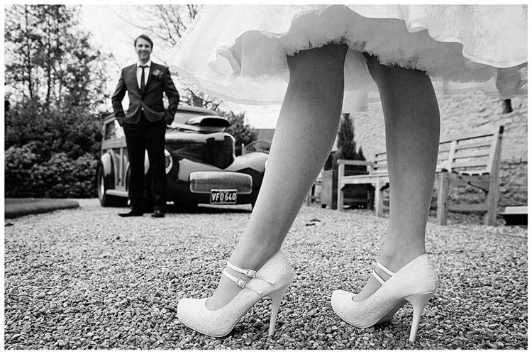 Tythe Barn Bicester Wedding brides shoes