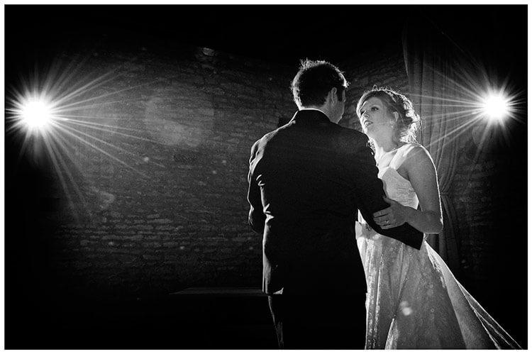 Tythe Barn Bicester Wedding bride groom romantic  first dance