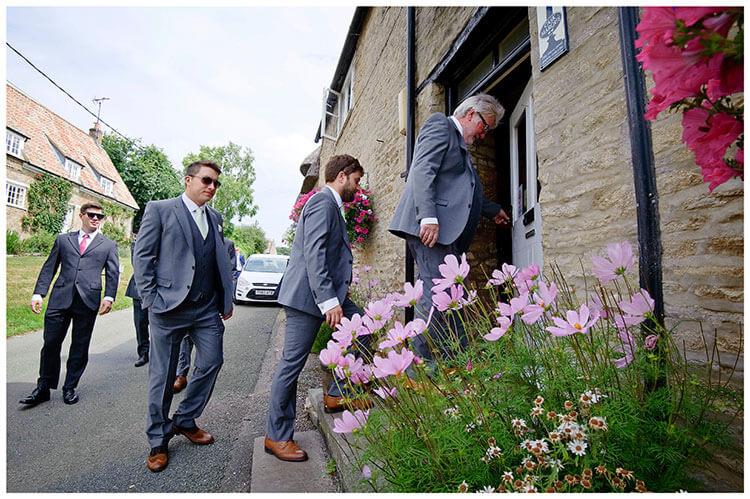 ushers entering pub