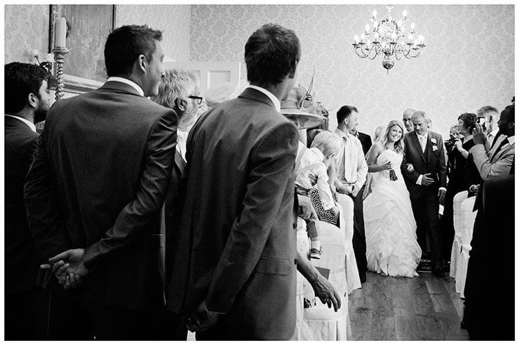 groom bride first look on arrival