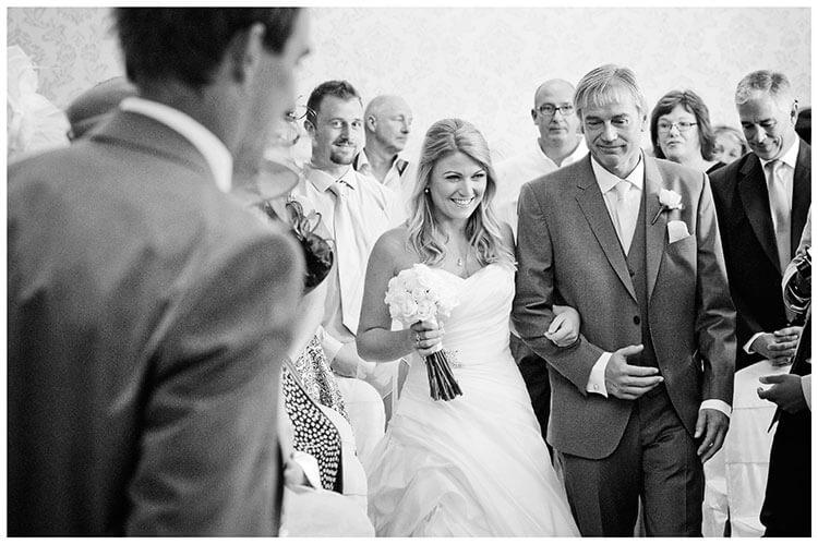 bride arrives groom