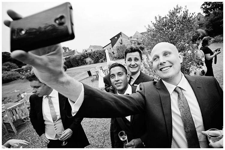long armed group selfie