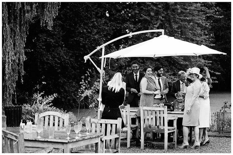guests under parasol