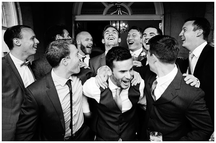 all the guys laughing