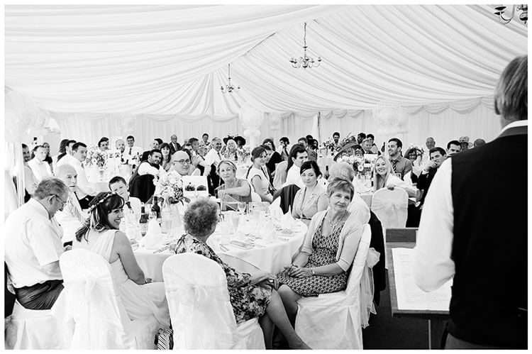 wedding marquee guests