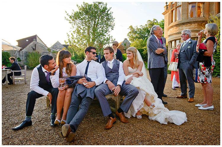 bride groom well earned rest