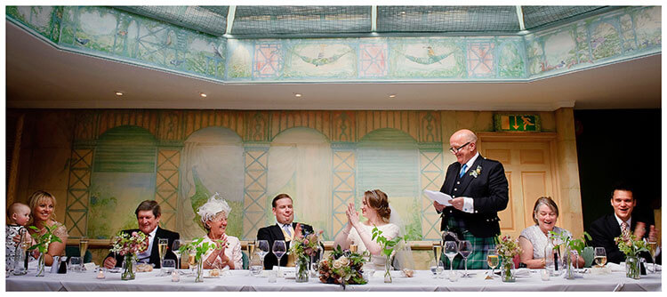 applause during father of bride wedding speech