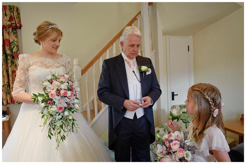 brides father talks to brides maid