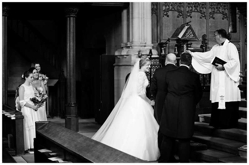 woburn abbey wedding at the alter