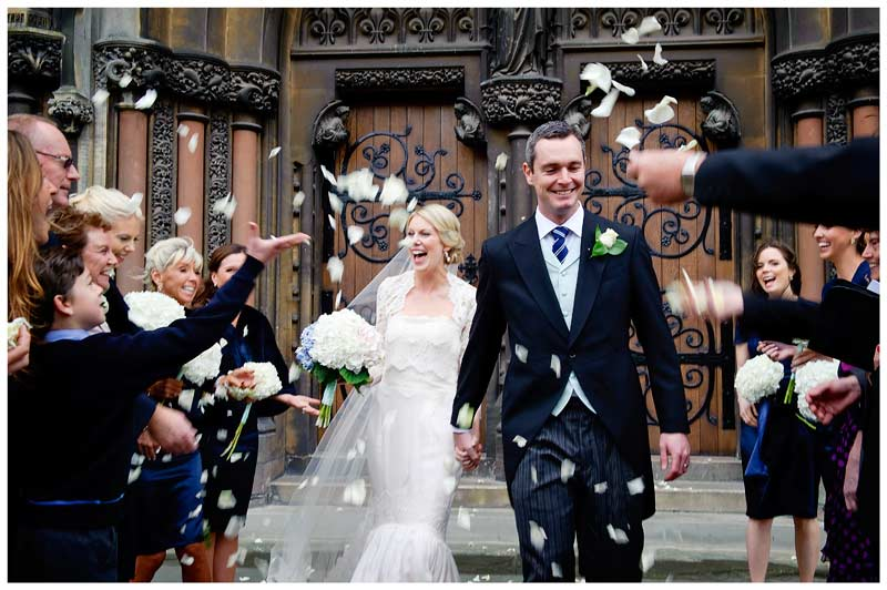 OLEM Church Wedding Cambridge confetti