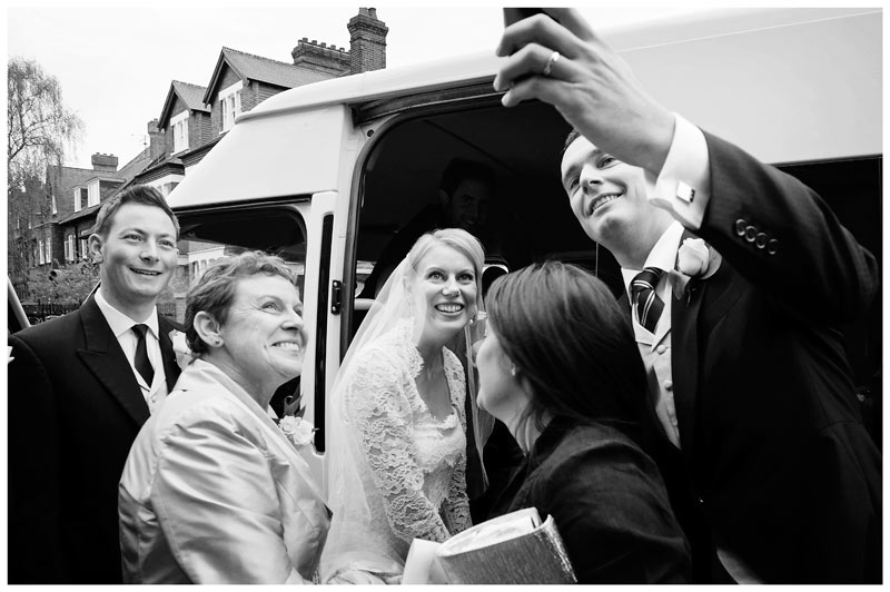 Homerton College Wedding bridal selfie
