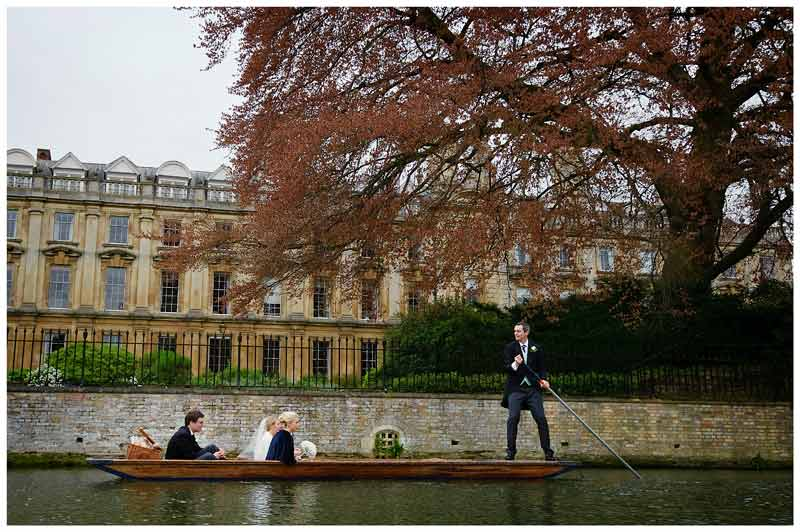 groom punting on river