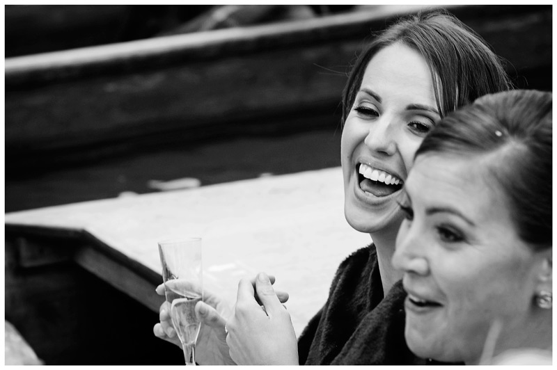Homerton College Wedding laughter