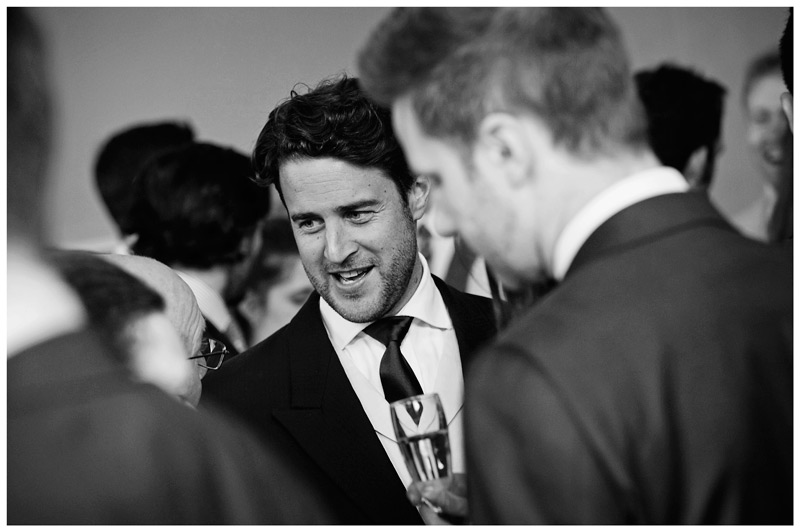 Homerton College Wedding guests in conversation