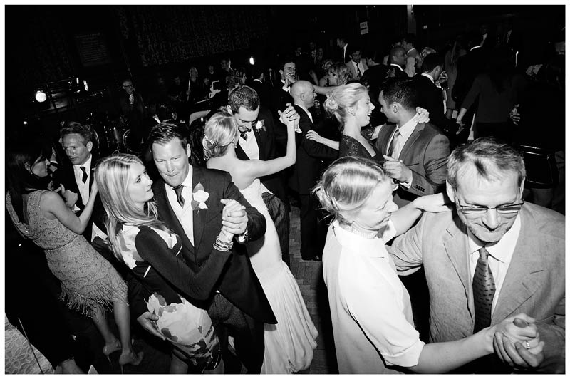 Homerton College Wedding bride groom dance surrounded by guests