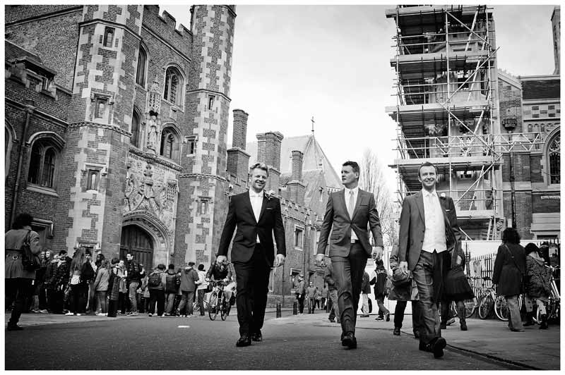 grooms men on streets of cambridge