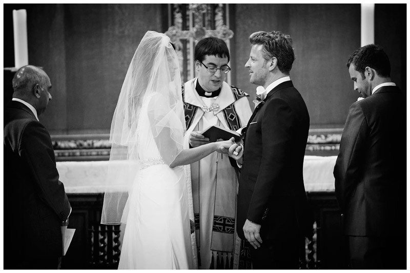 grooms vows in Christs College Cambridge Chapel