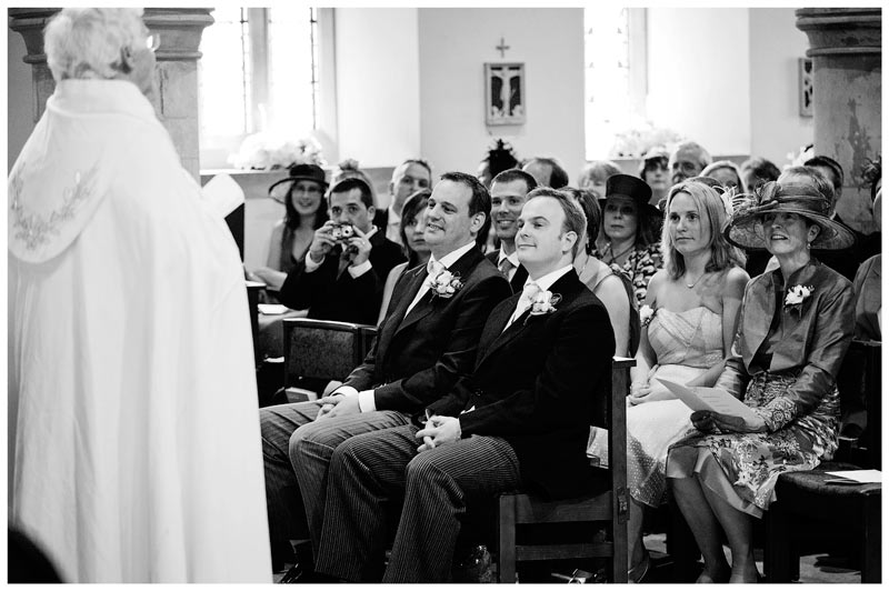 Great Fosters Wedding vicar gives speech in church
