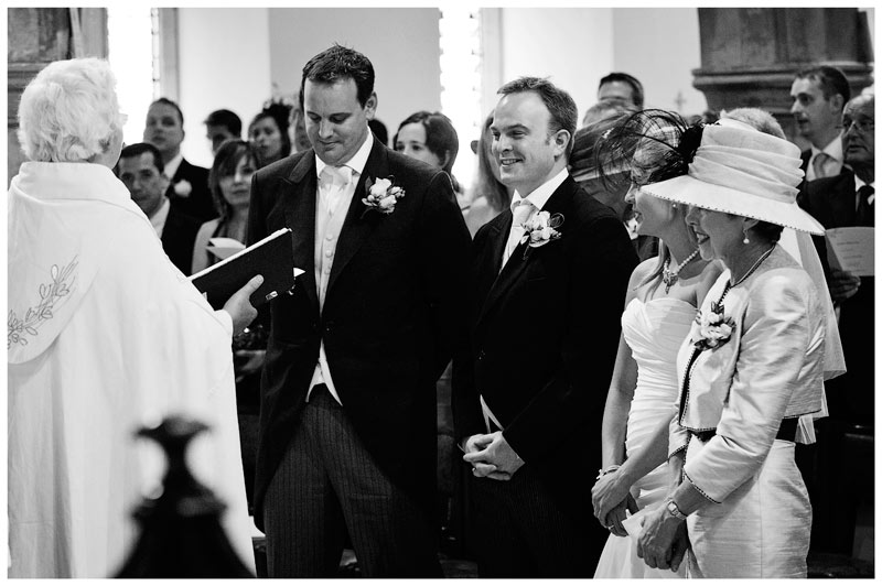 Great Fosters Wedding smiling groom
