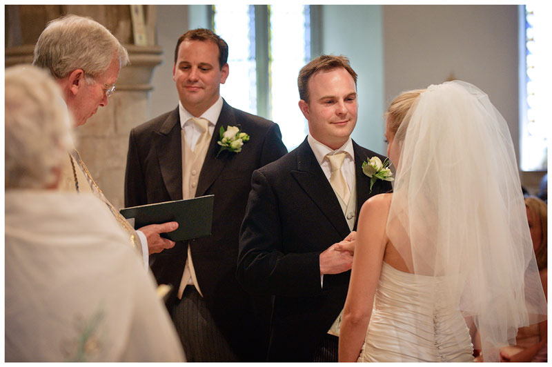 Great Fosters Wedding best mans watches as bride groom give vows