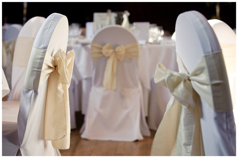 Wedding chair decoration ribbons