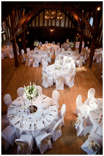 Great Fosters wedding dining tables from above