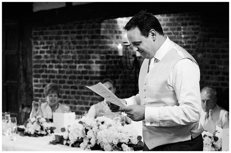 Great Fosters Wedding best mans speech