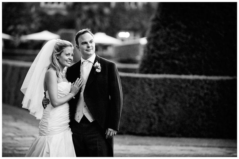 Great Fosters Wedding bride groom portrait