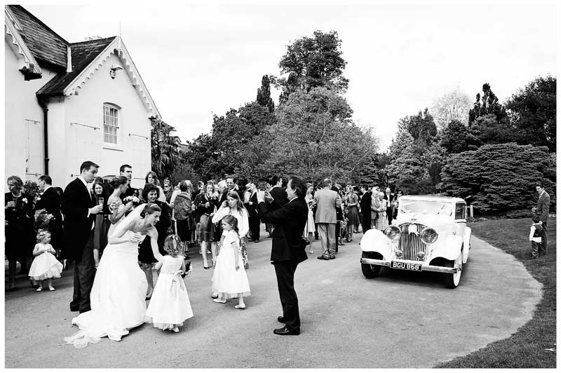 wedding party outside jermyn's house
