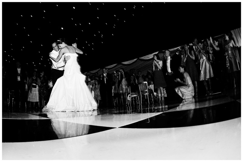 bride groom on chequered dance floor during first dance