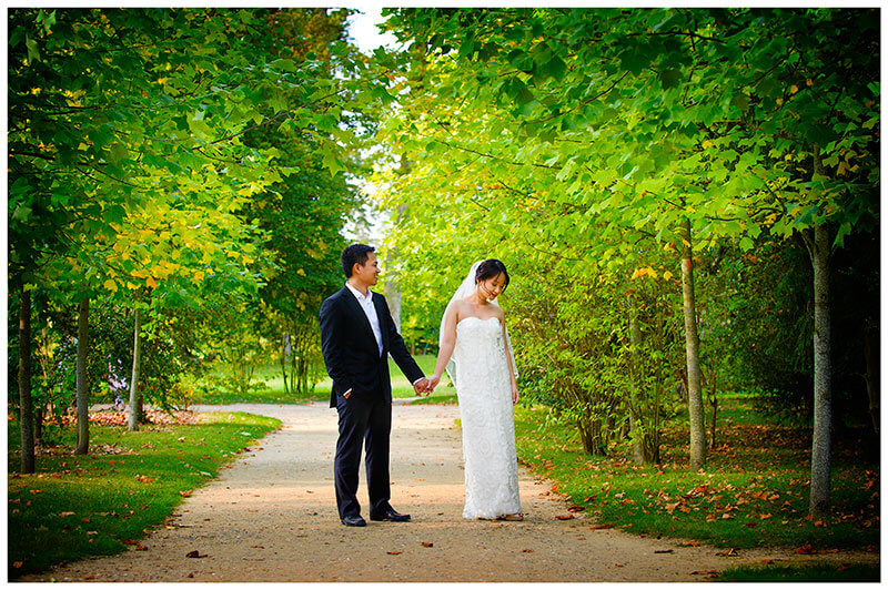 wedding photography in the gardens of Versailles Paris France
