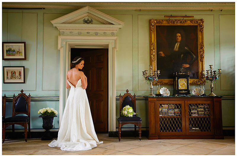 bride in main hall at Island Hall wedding venue