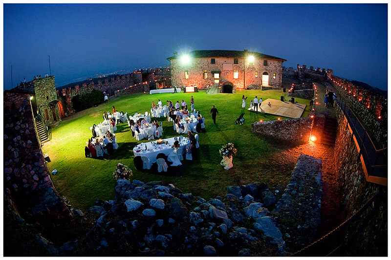 lonato castle wedding lake garda at night