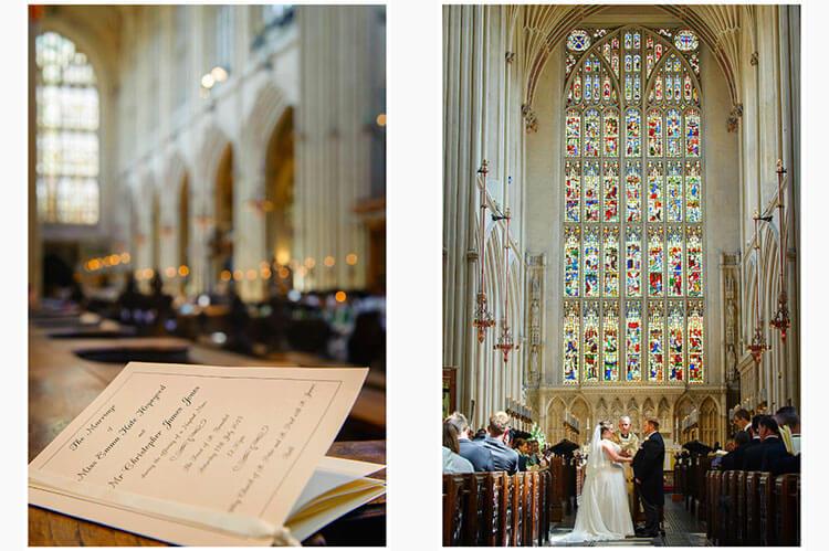 wedding at bath abbey