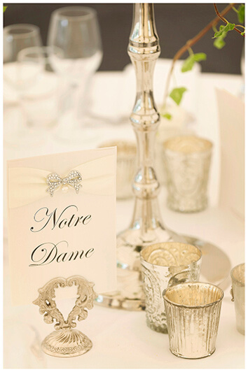 table names card