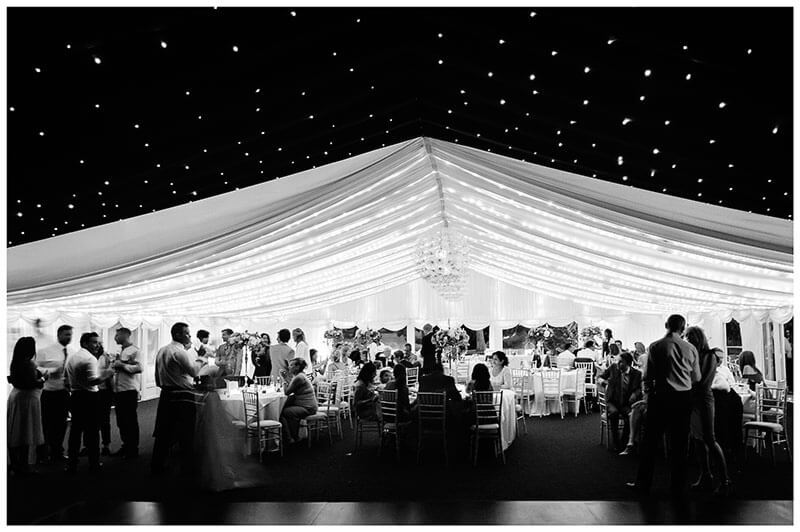 chippenham park marquee interior at night