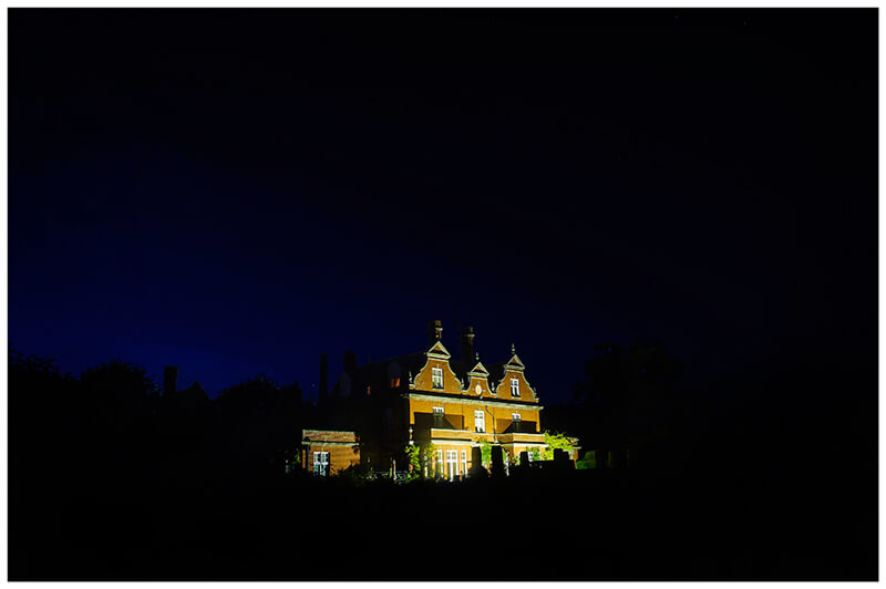 chippenham park wedding venue at night