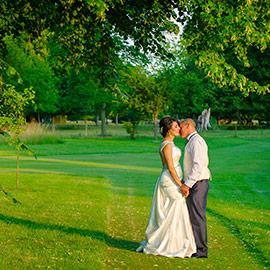 chippenham park wedding photographer bride groom kiss