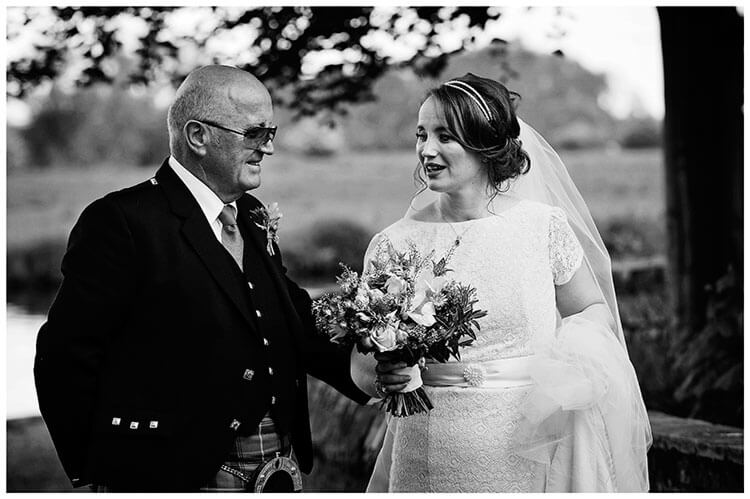 Hartford Church Wedding bride and father