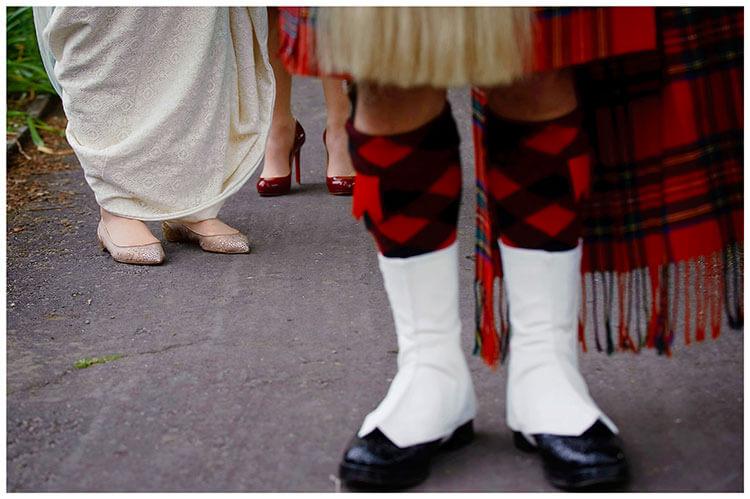 Hartford Church Wedding bridal shoes scottish piper shoes