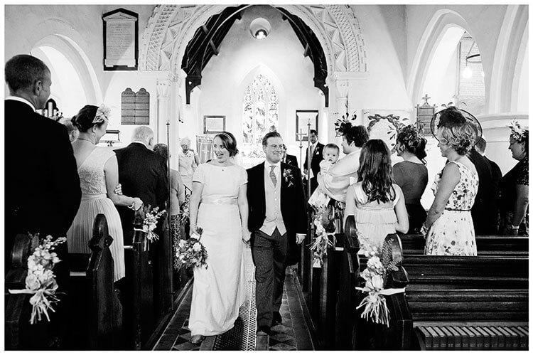 Hartford Church Wedding bride groom walking down aisle