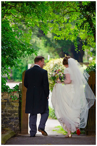 Hartford Church Wedding bride groom walking away brides red shoes