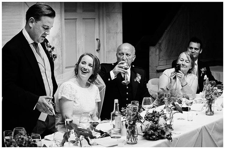 Old Bridge Hotel Wedding grooms specch
