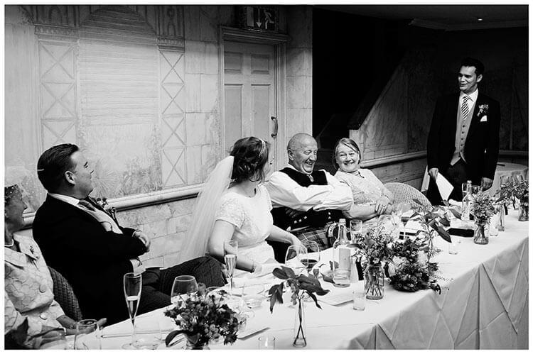 Old Bridge Hotel Wedding laughter during best mans speech