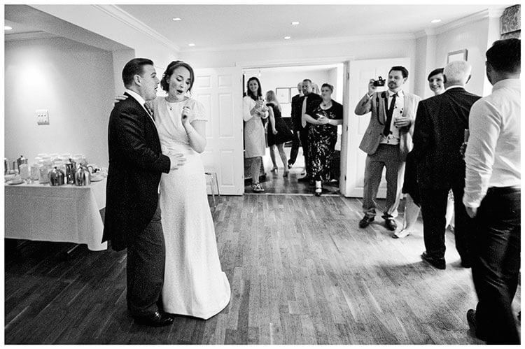 Old Bridge Hotel Wedding bride groom getting ready for first dance