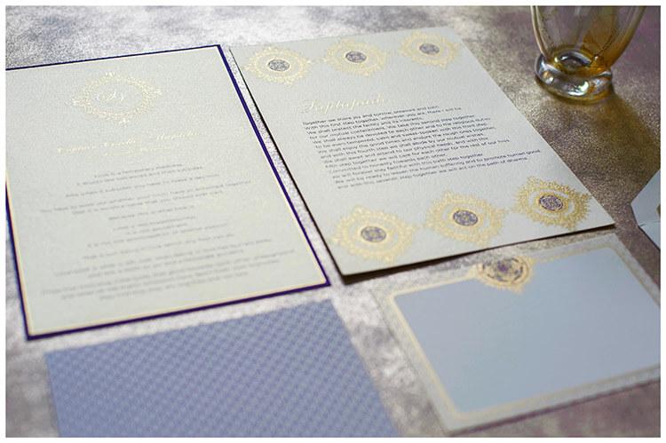 Ananya Cards Stylish Stationery captain corelli themed wedding stationery