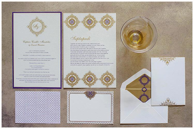 Ananya Cards Stylish Stationery captain corelli wedding stationery themed