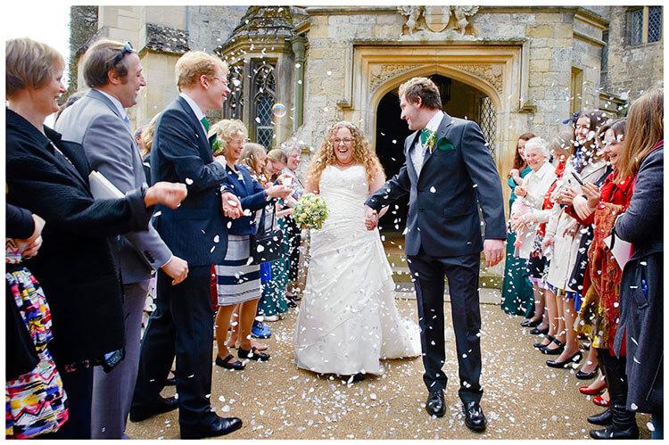 Anglesey Abbey wedding confetti