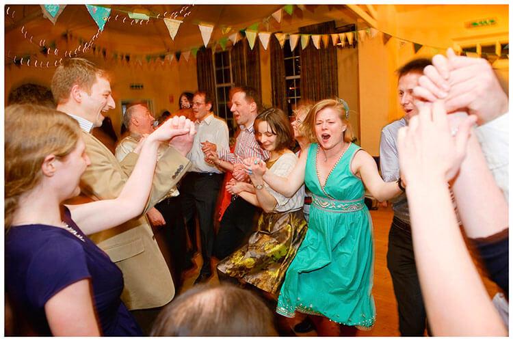 Anglesey Abbey wedding everyone dancing